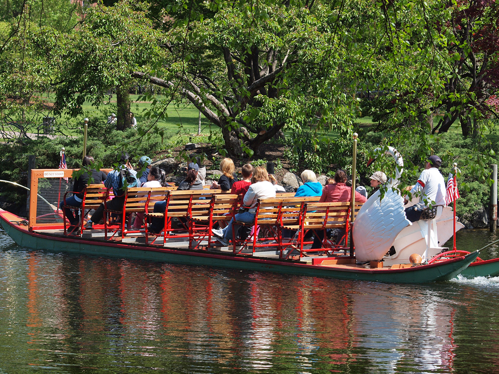 Boston The Public Gardens Swan Boat