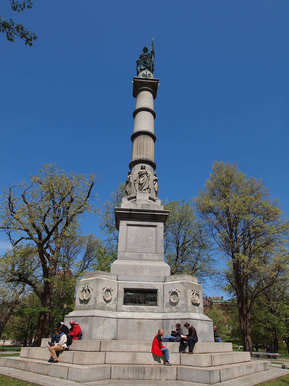 The Boston Common Soldier and Sailer monument.
