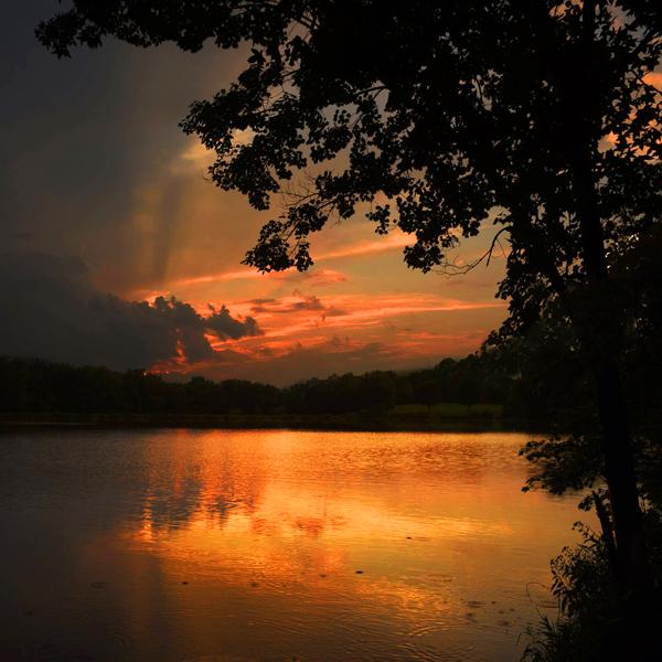 2. Sunset at Buddy Attick Lake Park